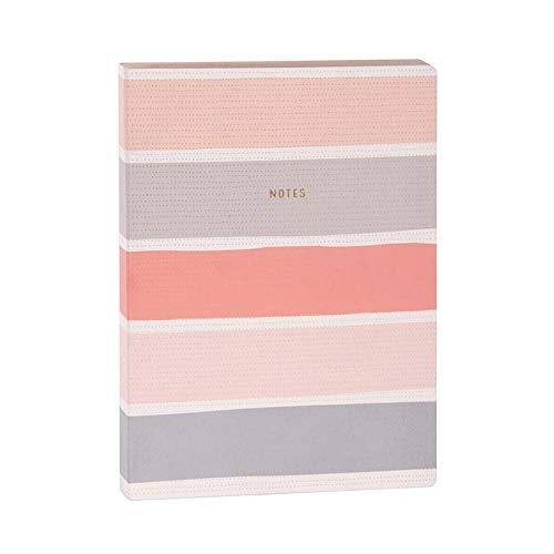 ARTEBENE Notizbuch Notebook Schreibbuch Bujo Bullet Journal Notes Streifen Rosa Pink | Dotted Punktraster | Premium Papier 120g/m2 | 240 Seiten DIN A5