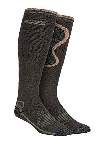 Storm Bloc - Hombre altos termicos lana trekking calientes gruesos calcetines para andar...