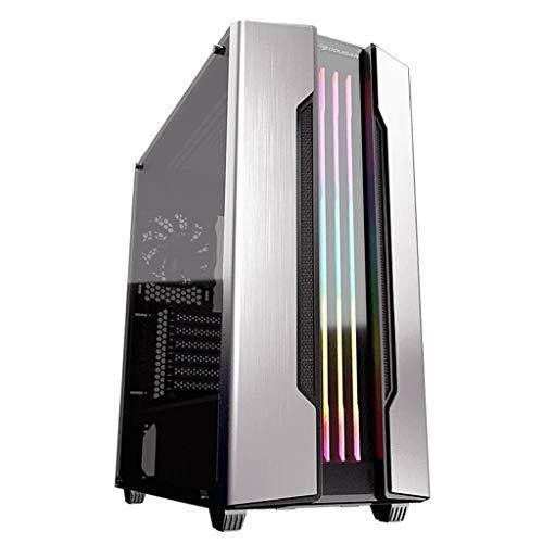 Caso de los juegos de PC ordenador para PC de escr Caja de la computadora de cristal templado de la torre media - Caso de la computadora-enfriamiento de agua listo - Mid Tower Gaming Case-PC Caso de j