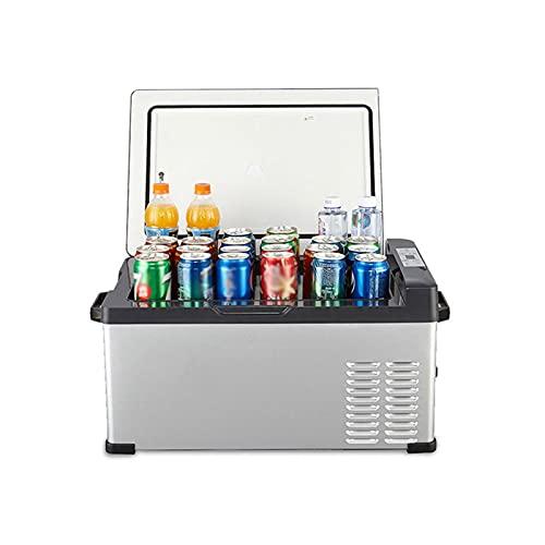Bewinch Refrigerador De Coche De 25 litros Mini Nevera 12 / 24V Refrigerador De Coche Refrigerador De Camping Portátil Congelador Nevera para Autocaravana, Viaje En Barco, Picnic, -20 ℃ A 20 ℃