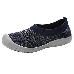 YWLINK Zapatos para Caminar De Mujer Zapatillas De Deporte De Moda Calcetines Flexibles Casuales Zapatos Antideslizante Transpirable TamañO Grande Mocasines Corriendo Yoga Ciclismo(Azul,35EU)