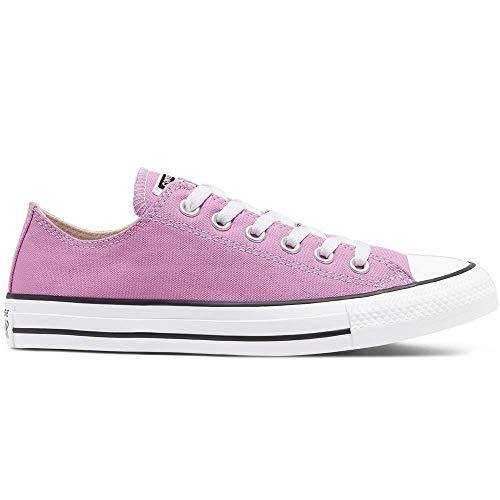 Converse Chuck Taylor All Star - Zapatillas de Lona Unisex con Adhesivo de 7 km/h, Color Rosa, Talla 36 EU