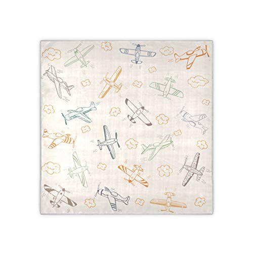 Pañuelo de avión de juguete favorito para niños, bufanda de moda con patrón de moda para mujer, bufanda de moda para niñas de 35x35 pulgadas