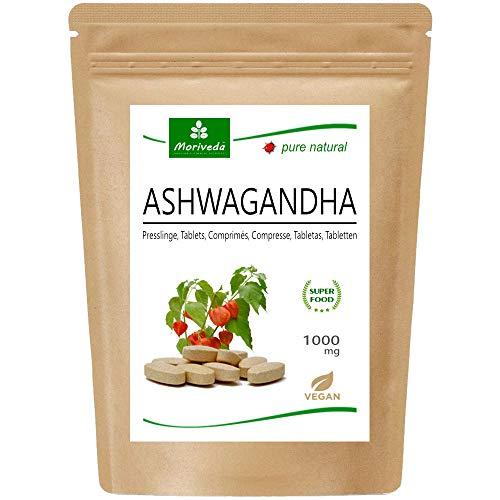 Ashwagandha Tabletten 1000mg oder Kapseln 600mg – reines Naturprodukt in Spitzenqualität – Schlafbeere, Winterkirsche, Indischer Ginseng (1x120 Tabletten)