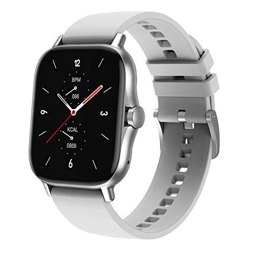 Yumanluo Smart Band Smart Watch,Reloj Inteligente con Pantalla Dividida, Pulsera Deportiva con Control de Salud-Gris,Pulsera Inteligente con Pulsómetro