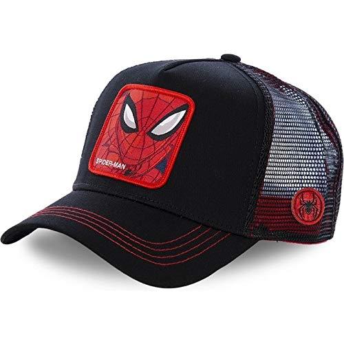 Gorra de béisbol de algodón Snapback Hombres y Mujeres, Gorra de Camionero de Malla de papá Hip Hop-Spider Black