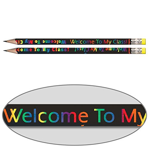 Really Good Stuff Welcome to My Class Pencils - Sharpened