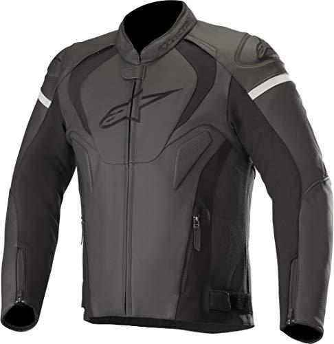 Alpinestars Chaqueta moto Jaws V3 Leather Jacket Black, Negro/Negro, 50 (31010191100-50)