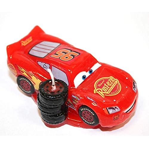 Dekora - 346053 Bougie danniversaire de Flash Mcqueen de Disney Pixar Cars