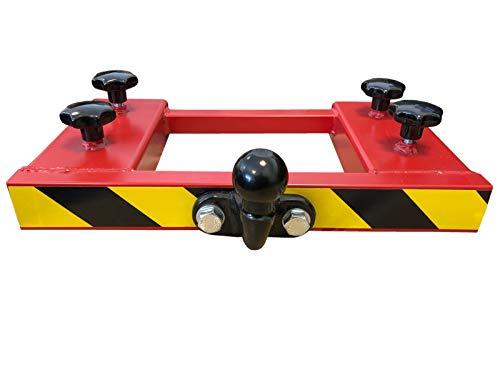 Rangierhilfe Gabelstapler Doppel-Gabel Anhänger Kugelkopf Anhängerkupplung Wohnwagen Rot