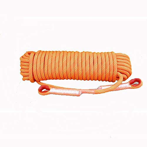 Corde de sécurité multifonctionnelle Extérieur Escalade corde avec mousquetons Arbre matériel d'escalade Activités de plein air for 10MM 20MM (orange) Heavy Duty Mountain Equipment pour Randonnée Alpi