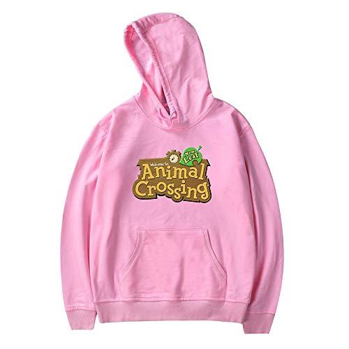 Unisex Anime Animal Crossing Hoodies, Cartoon gedruckt Langarm Pullover Sweatshirt Animal Crossing Cosplay Kostüm