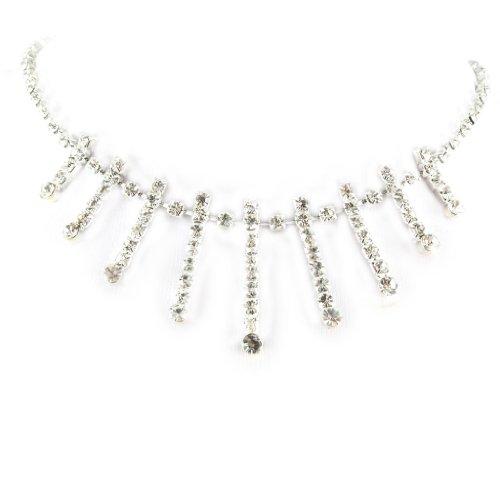 Les Trésors De Lily [D1610] - Halskette 'french touch' 'Amanda' weiß.