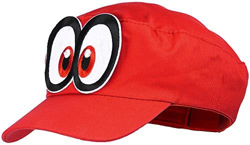 Balinco Super Mario Odyssey Mütze rot für Erwachsene (Damen & Herren) Karneval Fasching Verkleidung Kostüm Mützen Hut Cap Herren Damen Kappe