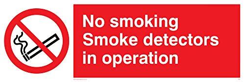 Viking Signs PS7-L62-AC'No Smoking Smoke Detectors In Operation' Sign,...