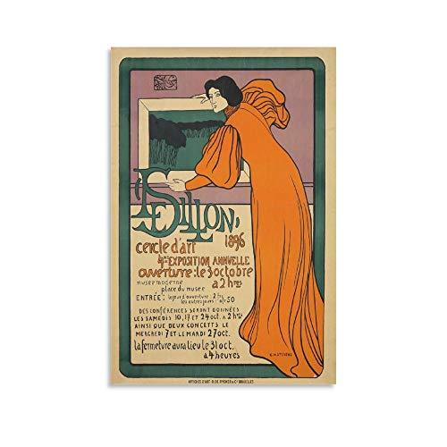 Le Sillon 4me Exposition 1896 - Póster de película retro para pared (50 x 75 cm)