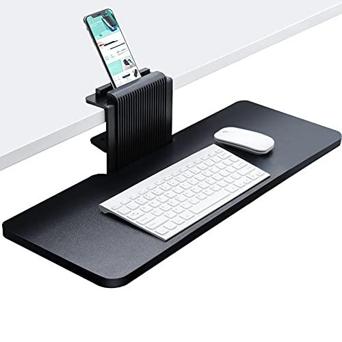 JENOSWEIN Clamp on Keyboard Tray Under Desk 26