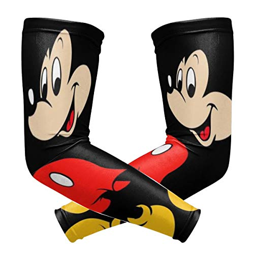 Mickey Mouse Arm Sleeve - UV Protection Cooling Compression Sun Sleeves for Men & Women for Running, Cycling,Baseball, Basketball, Golf