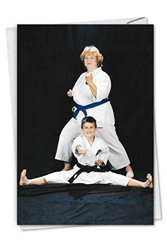 NobleWorks, Karate Kid – Lustige Geburtstagskarte für Mutter – Geburtstagskarte für Mütter – Geburtstagsgeschenk C7343BDG