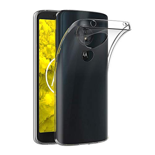 AICEK Moto G6 Play Hülle, Transparent Silikon Schutzhülle für Motorola Moto G6 Play Case Clear Durchsichtige TPU Bumper Moto G6 Play Handyhülle (5,7 Zoll)