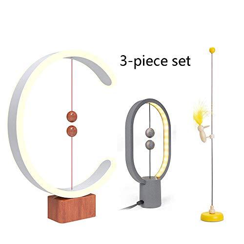 Creative Simple Heng Balance Lamp Magnétique LED Forme De C + Mini Magnétique Ellipse + Circuit De Motricité - Pivert ,un ensemble de 3 pièces
