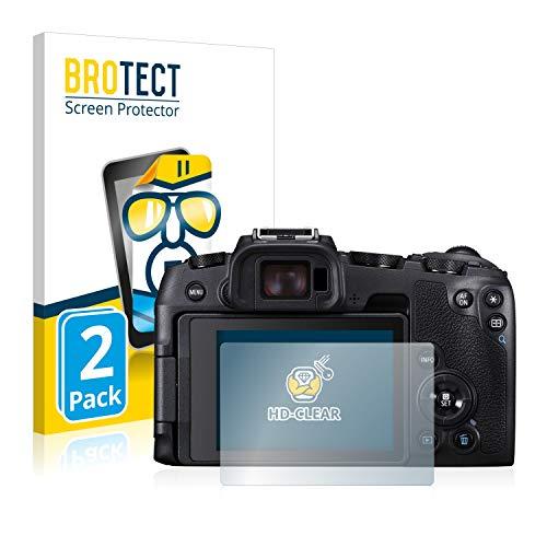 BROTECT Schutzfolie kompatibel mit Canon EOS RP (2 Stück) klare Displayschutz-Folie