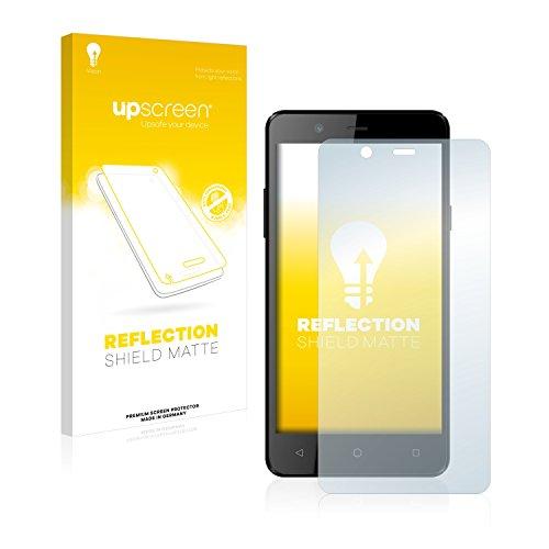 upscreen Entspiegelungs-Schutzfolie kompatibel mit Archos 50 Titanium 4G – Anti-Reflex Bildschirmschutz-Folie Matt