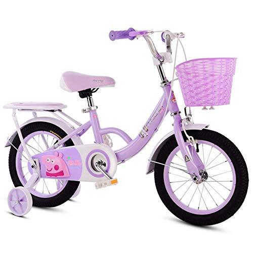 Bicicleta Bicicleta para niños con estabilizadores Plegable Carro para Bicicleta Infantil con Ruedas de Entrenamiento con Flash Carruaje Alumnos Bicicleta de montaña