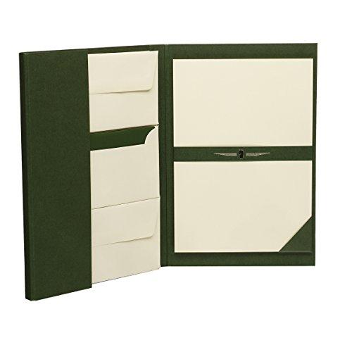 Rössler 1024831008 - Paper Royal - Briefpapiermappe DIN A4/DL, 25/25, grün/chamois gerippt