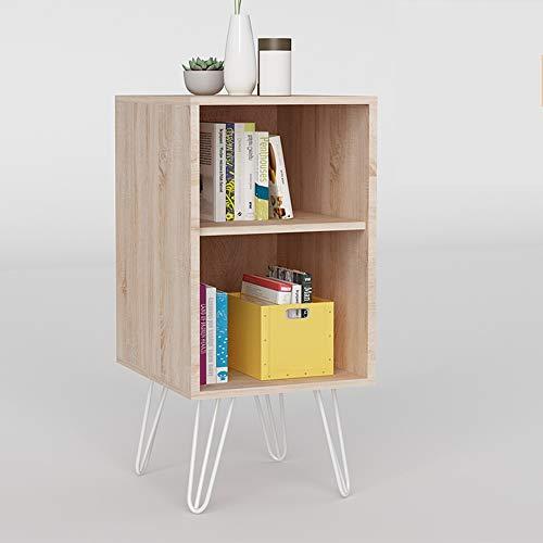 Librerie YANFEI, Nordic Bookcase Floor Floor 2 Piani in Legno Color scaffale