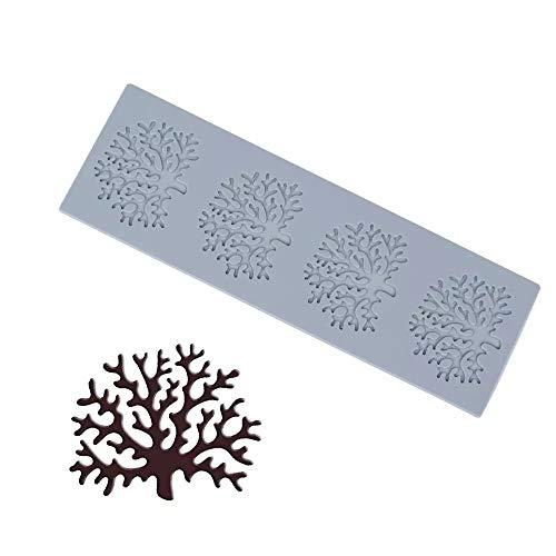 H-ENY Utensili da Forno, Utensili da Cucina Utensili Stampo Albero Ramo di Forma al Cioccolato in Silicone Stampo di Corallo Forma Decorativa Pasticceria Decorativa