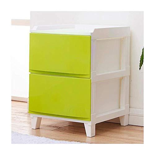 Panier de rangement La Mode tiroirs Armoire de Rangement en Plastique Multilayer Locker Simple Salon Armoire de Chevet Simple (Color : Green)