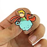 NIDMIDO Cute Prince and Fox Brooch Badges for Children Adults Clothes Backpacks Hats Decor (Style1)