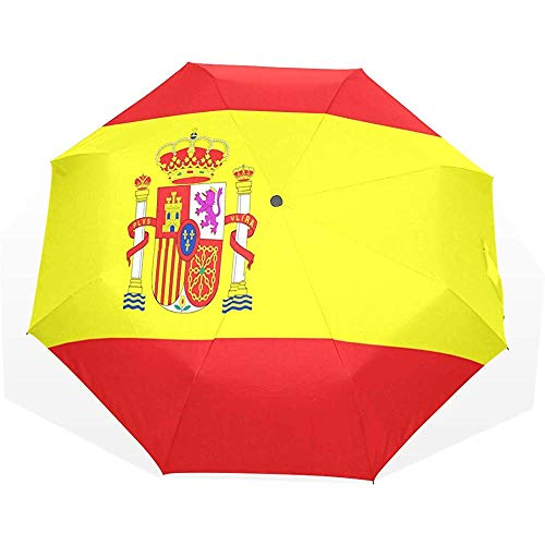 EW-OL Regenschirm Spanische Flagge New Travel Golf Sun Rain Winddichte Regenschirme mit UV-Schutz Regenschirm