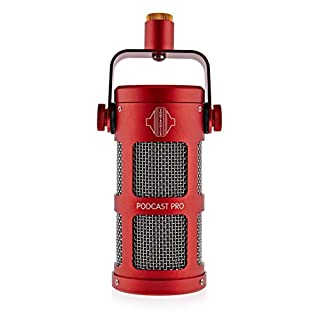 scheda sontronics podcast pro red supercardioid dynamic microphone