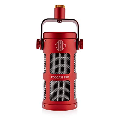 Sontronics Podcast Pro Supercardioid Dynamic Microphone for Podcast and Broadcast, Red