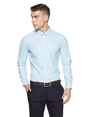 Excalibur Men's Formal Shirt (8907542727933_400016715453_42_Aqua)