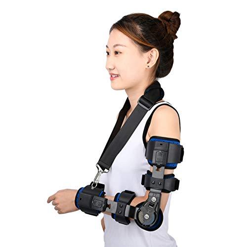 Cajolg Codera ajustable para brazo con bisagras, fijación de fractura de antebrazo, ortesis adecuada para codo, contractura, codo y brazo izquierdo