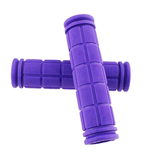 SOONHUA Bike Handlebar Grips, Soft TPR Rubber(115mm), Bicycle Grip for Scooter Cruiser Urban Tricycle Trike Wheel Chair Mountain Road MTB BMX Foldable - Purple
