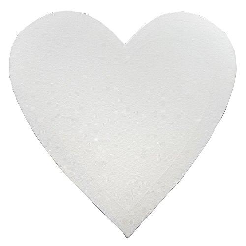 Frau WUNDERVoll® KEILRAHMEN HERZ, WEISS 60 x 60 cm / Leinwand, Hochzeit Deko, Keilrahmen herzförmig, Hochzeitsspiel, Keilrahmen Herzform, Leinwand Herz, Geldgeschenk Hochzeit, Keilrahmen Herz