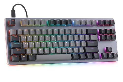 Drop CTRL Mechanical Keyboard — Tenkeyless TKL (87 Key) Gaming Keyboard, Hot-Swap Switches, Programmable Macros, RGB LED Backlighting, USB-C, Doubleshot PBT, Aluminum Frame (Cherry MX Brown RGB)