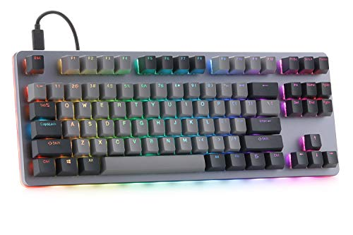 Massdrop CTRL Mechanical Keyboard — Tenkeyless TKL (87 Key) Gaming Keyboard, Hot-Swap Switches, Programmable Macros, RGB LED Backlighting, USB-C, Doubleshot PBT, Aluminum Frame (Halo Clear)
