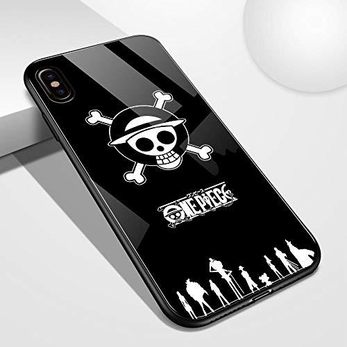 Caja del teléfono Celular para el Caso de la contraportada de Cristal del iPhone 12 Pro One Piece Luffy Case para iPhone 7 8 Plus X XS MAX XR 11 Pro MAX SE2-T1_iPhone7P/8P