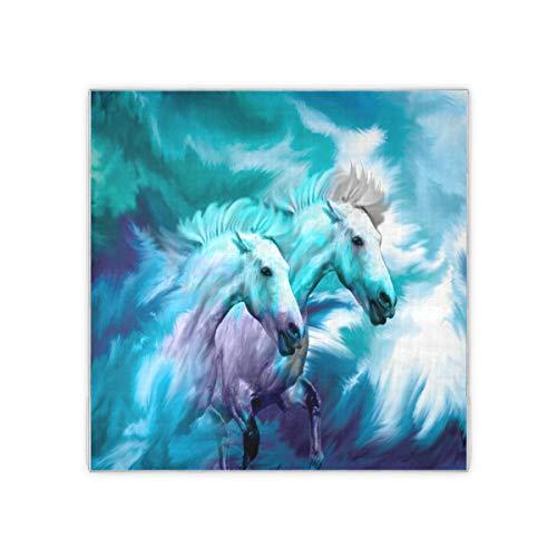 Bufanda cuadrada para mujer, diseño de caballo corredor de cristal, para el cuello, bufandas y envolturas para la cabeza, pañuelo de 88,9 x 88,9 cm