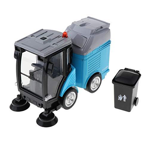 Juguete de Camión Barredor de Calle de Simulación Rueda de Limpieza Giratorio de 360 Grados Juego Divertido para Niños - Azul