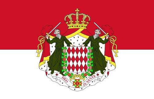 Michael & Rene Pflüger Barmstedt 8,4 x 5,4 cm Autoaufkleber Fahne von Monaco mit Wappen Aufkleber Sticker fürs Auto Motorrad Handy Laptop