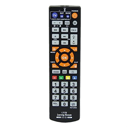 Aplicar para Nuevo Controlador de control remoto Universal Smart L336 Universal Smart L336 IR Control remoto con función de aprendizaje para TV CBL DVD Reemplazar el control remoto ( Color : Black )
