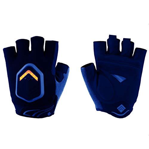 HBRT Fahrrad-Blinker Handschuhe, Autobahn LED-Abbiegelicht Intelligenter Sensor IP-X6 wasserdicht hohe Helligkeit, sicherheitsfreundlich Fahrzeug erinnert,Blue