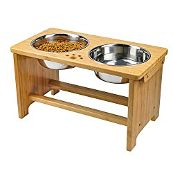HTB Elevated Dog Bowls,Dog Cat Food Water Bowls,Raised Pet Feeder Stand