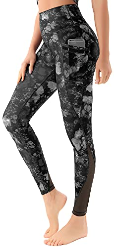 Persit Yoga Leggings Damen, Sporthose Yogahose Sport Leggins Tights für Damen Schwarz Rosa-Size 36 (Herstellergröße: S)
